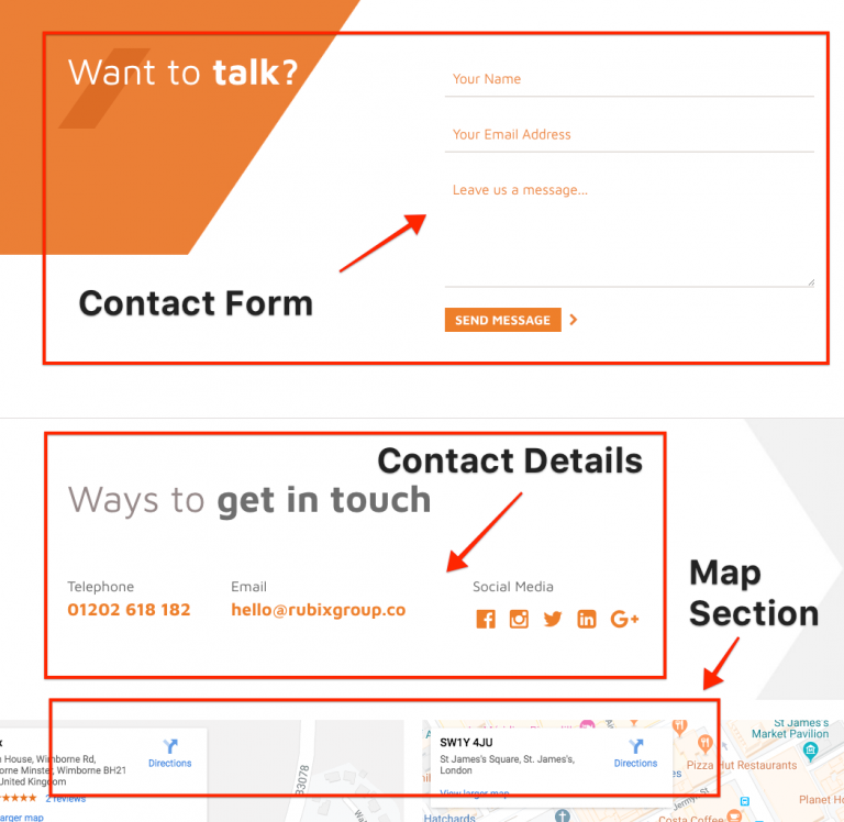 Contact Page Organization Best Practices