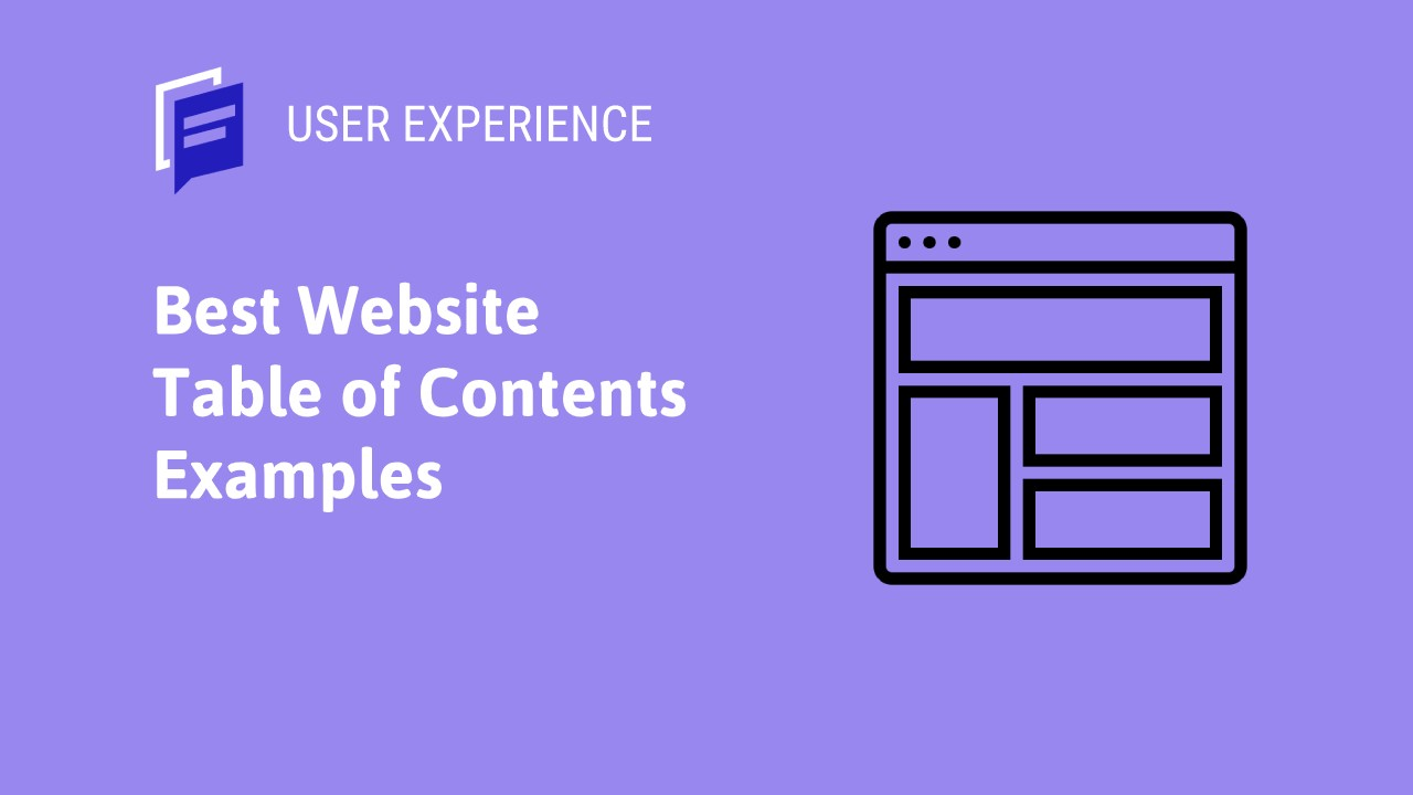 Best Website Table of Contents Examples