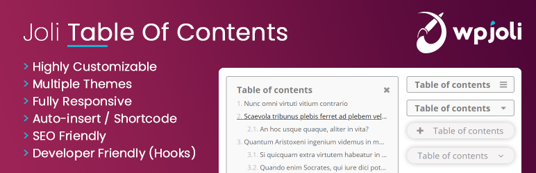 WP Joli Table of Contents