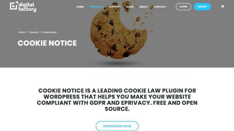 dfactory cookie notice popup plugin