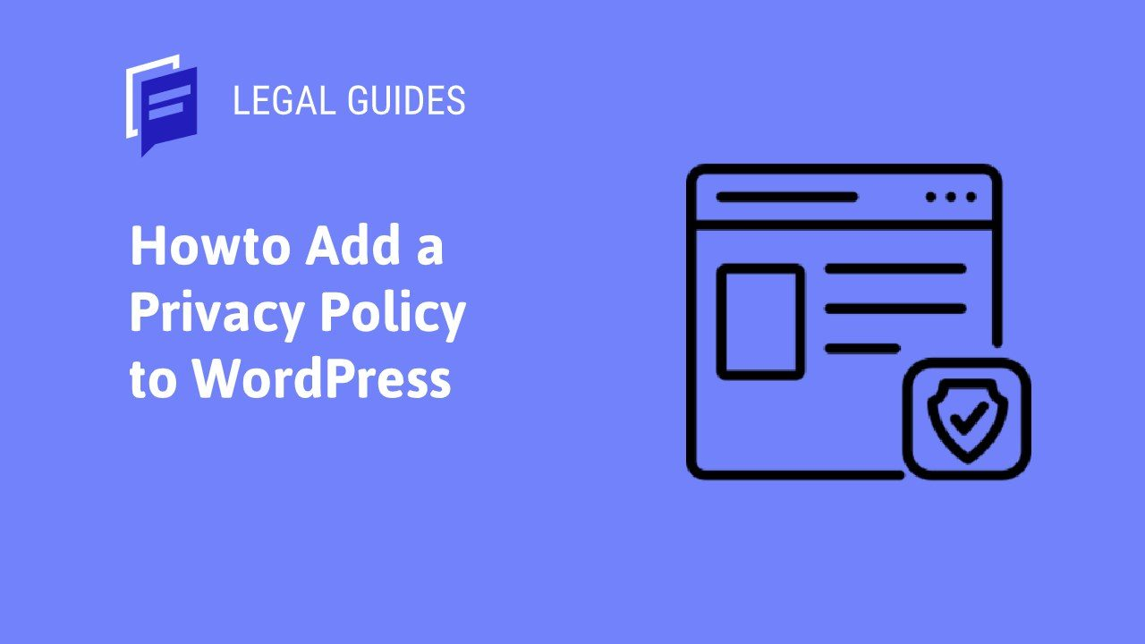 How to Add a Privacy Policy to WordPress