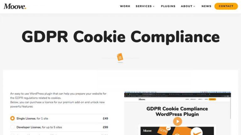 moove cookie popup plugin