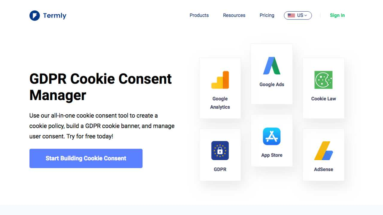 Termlyio Cookie Homepage