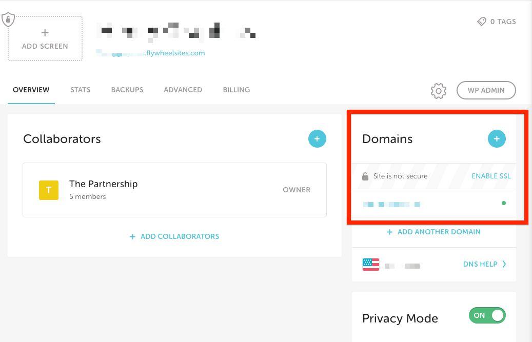 Flywheel Hosting Click Enable SSL